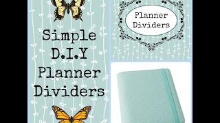 Simple D.i.y Planner Dividers