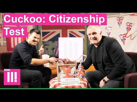 Greg Davies tests Taylor Lautner on British Citizenship Test