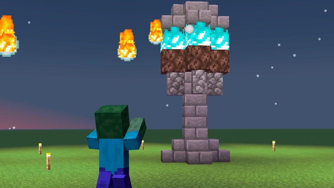 Minecraft - Como hacer torre de defensa automática