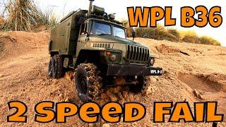 WPL Ural  B36, Upgraded & Broken! 2 Speed Gearbox, Soft Tyres, Added weight.