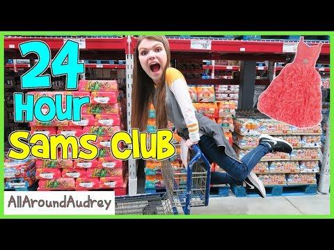 24 Hour Overnight Challenge In Sams Club / AllAroundAudrey