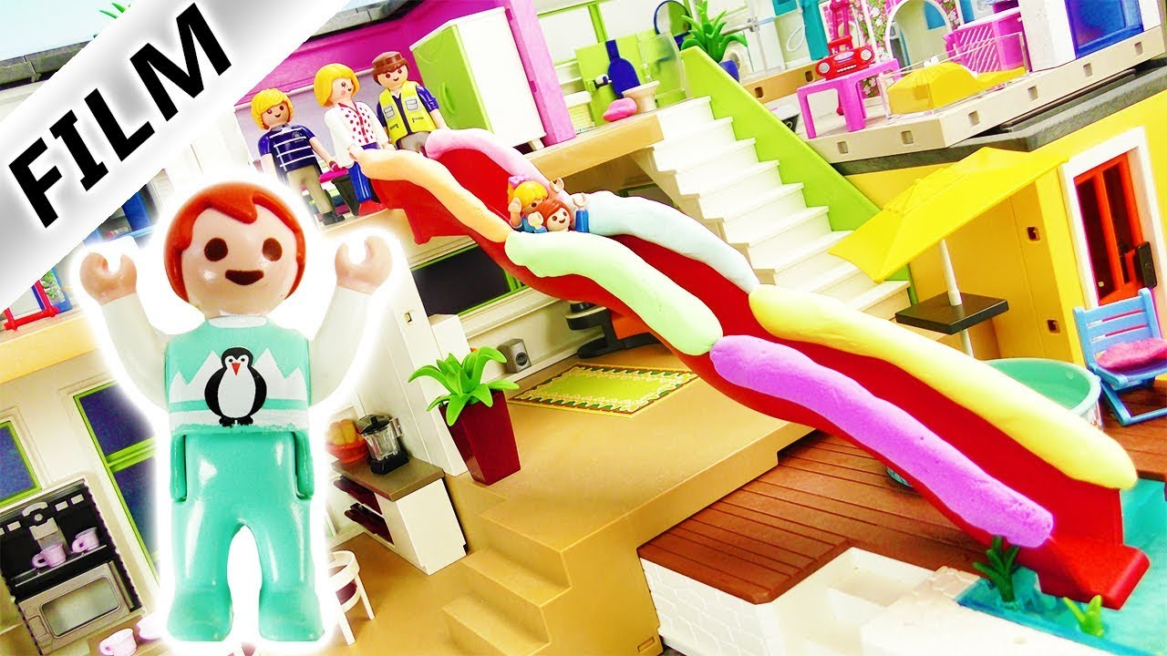 Playmobil film deutsch rutsche durchs haus emmas for Casa playmobil 123