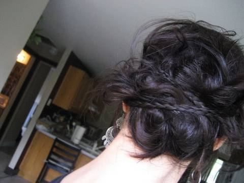 creative hairstyles messy braided