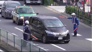 ネズミ捕りに気付かず速度を出し過ぎたFREEDの運転手さんがスピード違反で検挙される瞬間!Japanese Speeding crackdown thumbnail