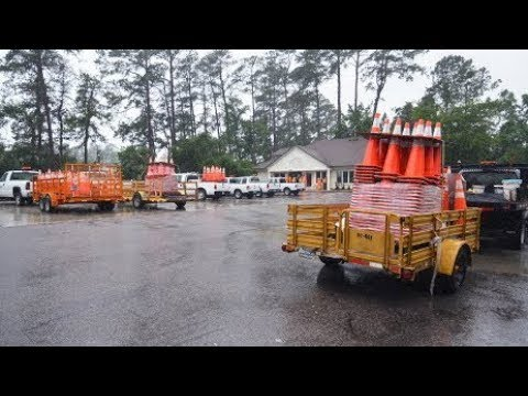What's Going On With All Those Orange Traffic Cones On The Highway?
