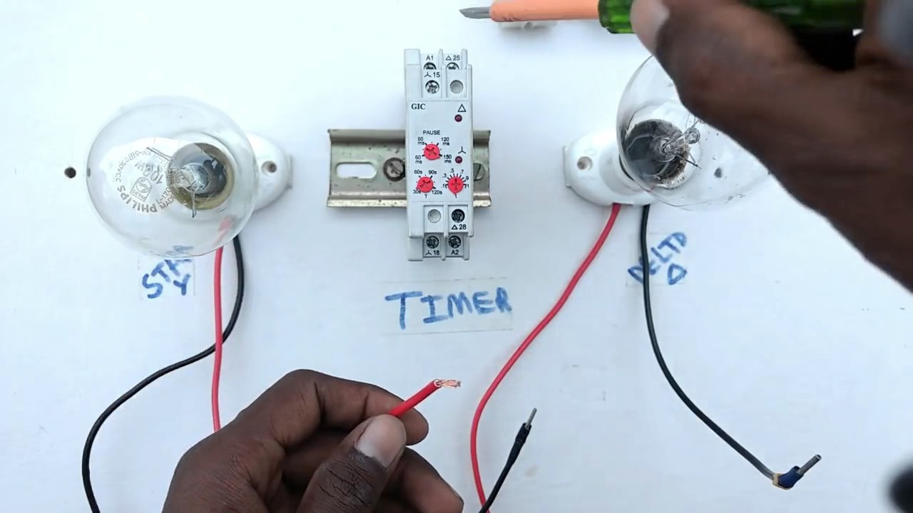 How to connection timer switch - YouTube