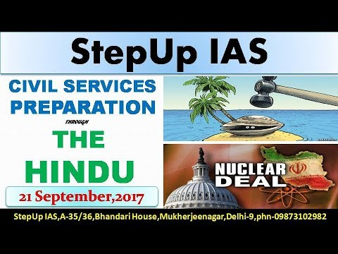 21 September The Hindu Editorial Discussion