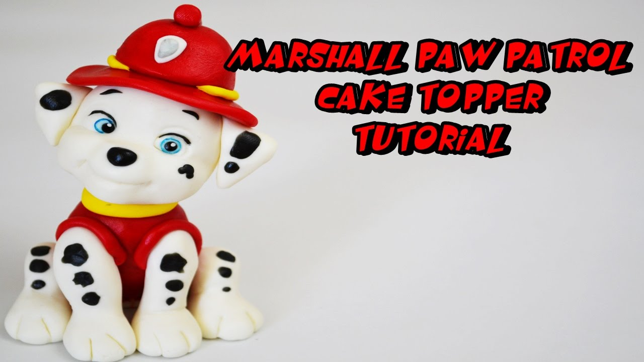 MARSHALL PAW PATROL CAKE TOPPER FONDANT TUTORIAL - YouTube