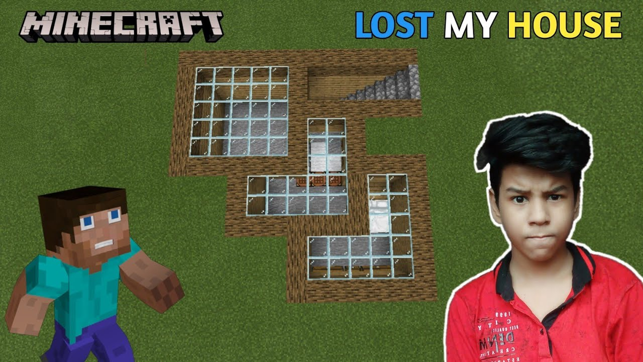 I Lost My House In Minecraft - YouTube