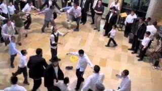 Sukkot Dancing at Aish HaTorah Jerusalem - Simchas Beis HaShoeva
