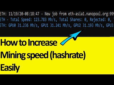 How To Increase Hashrate In Mining | How To Increase Mining Speed | How To Overclock GPU For Mining