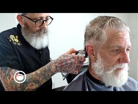 Master Barber Transforms Eric Bandholz's Father | Beardbrand Studio