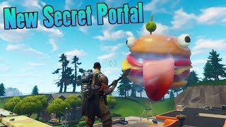 ANOTHER SECRET PORTAL ADDED TO MAP! FORTNITE GREASY GROVE BLACK HOLE PORTAL