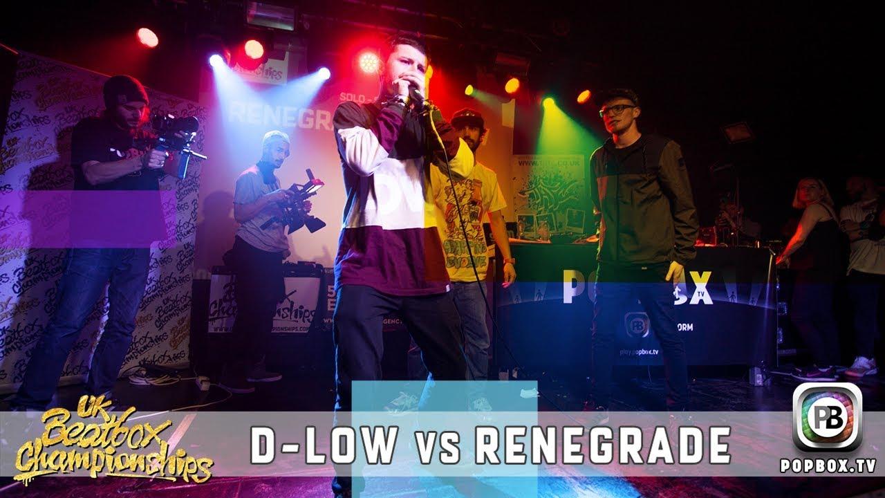 D-Low vs Renegrade   Solo Semi Final   2017 UK Beatbox Championships