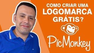 🐵 LOGO GRÁTIS | Como Criar uma Logomarca grátis - PIC MONKEY | Fábio Edir