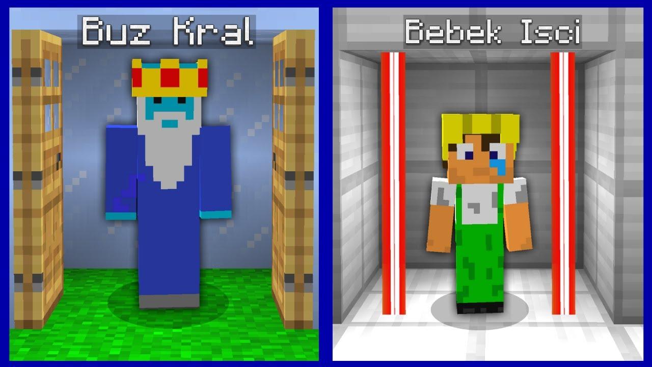 BEBEK İŞÇİ HAPİSHANE VS BUZ KRAL HAPİSHANE! 😱 - Minecraft