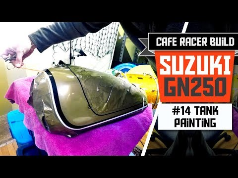 Suzuki GN 250 Cafe Racer Build - Part 14: Gas Tank Painting