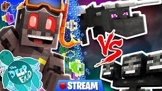 Minecraft The Deep End SMP Stream 7: Ender Dragon VS Wither!