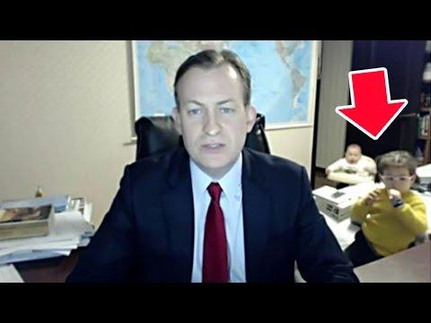 Kids Crash Dad's Live TV Interview (VIDEO)