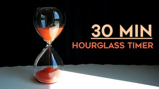 30 minutes Timer - hourglass with digital timer, ASMR sand sounds, no music