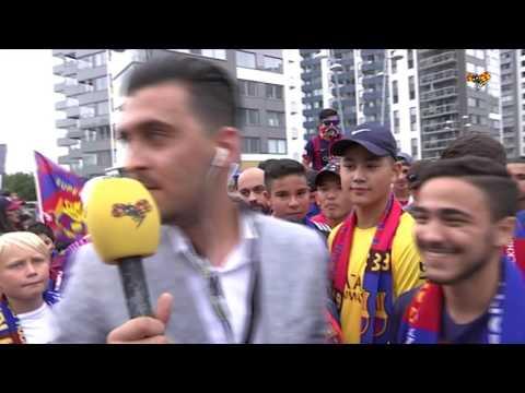 Intervjuer med fans inför Barcelona - Leicester