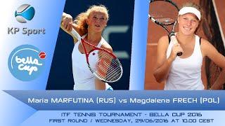 1st round itf tennis tournament bella cup 2016maria marfutina (rus) vs. magdalena frech (pol) -www.kpsport.plsubskrybuj nasz kanał www./c/kpsportp...