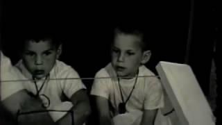 Siegfried Engelmann Teaching His 4 year Twin Sons    1963