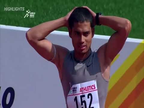 Nisar Ahmad (Indian Usain Bolt) From Delhi Wins 100M Boys Final _ Khelo India School Games 2018