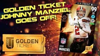 WE GET GOLDEN TICKET JOHNNY MANZIEL! AMAZING TD PASSES! Madden Ultimate Team 16
