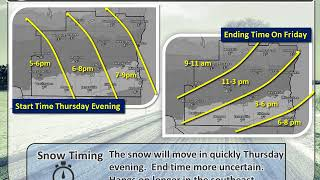 Winter Storm Watch/Winter Weather Advisory Thu night - Friday