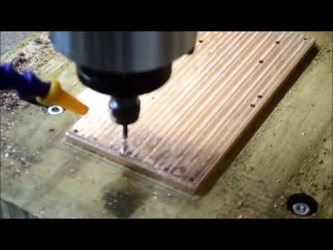 DIY CNC machine cutting copper - from CAD design to fully working CNC machine