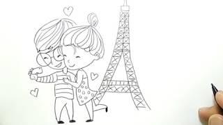 Video cara menggambar pasangan cinta / how to draw lover couple download MP3, 3GP, MP4, WEBM, AVI, FLV November 2018