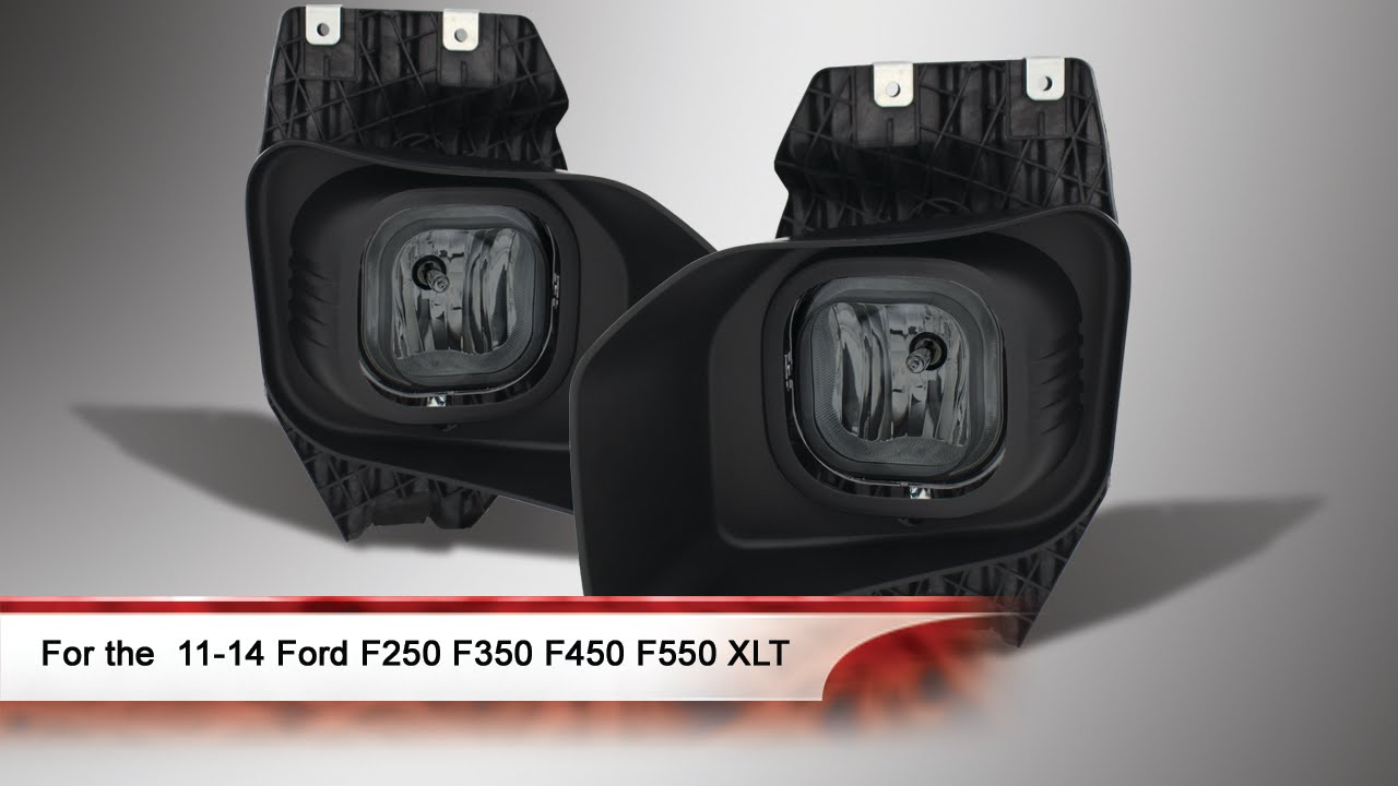 11 14 Ford F250 F350 F450 F550 Xlt Fog Lights With Switch Youtube 05f 250 Light Wiring Diagram