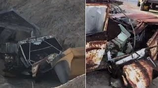 jeep buried in sand pulled out after 40 years