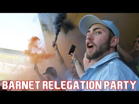BARNET FANS HAVE RELEGATION PARTY - Barnet vs Chesterfield Vlog