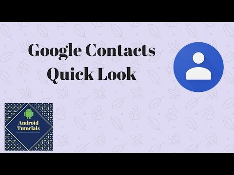 Google Contacts Quick Look