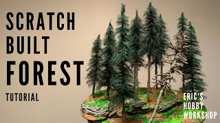 How to Make a Realistic Miniature Pine Forest! - Terrain for 40k, D&D, Model Train Dioramas