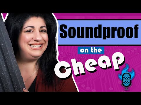 CHEAP DIY Soundproofing For Your Voice Over Booth!