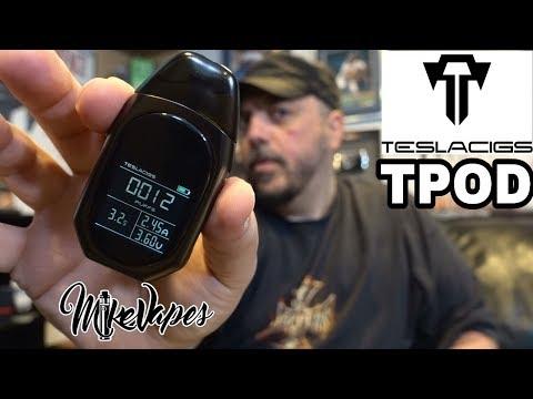 Pod Device With Screen?? Tesla TPOD Refillable Pod System - Mike Vapes