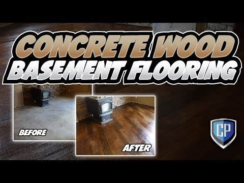 Concrete Wood Basement Flooring   YouTube