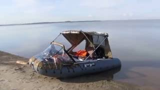 ОбьГЭС-ЮБТО-ОбьГЭС-2016 на RiverBoats-370+Hangkai9,9