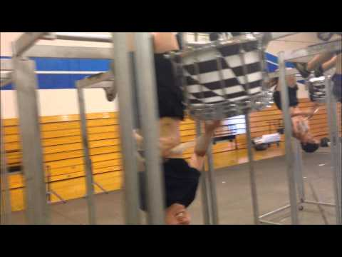 Upside down drumming, behind the scenes! Pulse Percussion 2014