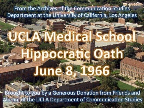 UCLA Medical School Hippocratic Oath 6/8/1966