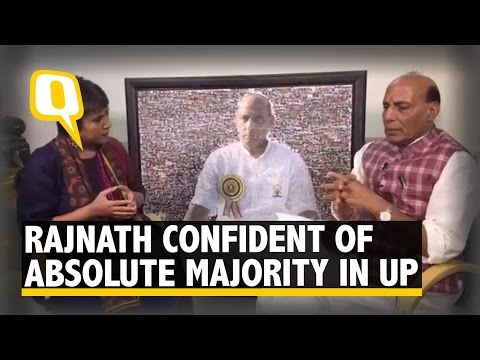 The Quint: BJP is going to win absolute majority in UP: Rajnath's interview with Barkha