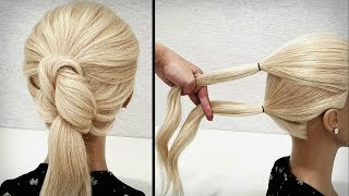 Простая прическа на каждый день.Быстрые Красивые прически пошагово.Simple hairstyle for every day.