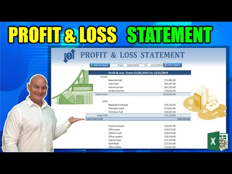 Learn How To Create A Dynamic Profit & Loss Statement From Scratch In Excel Today