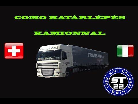 116.Como-Chiasso határlépés kamionnal.Segítség kamionosoknak.