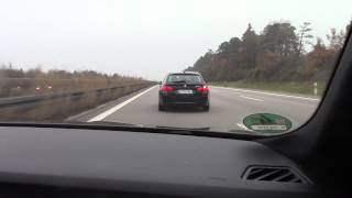 BMW 160 MPH German Autobahn - This is how normal people drive every day!