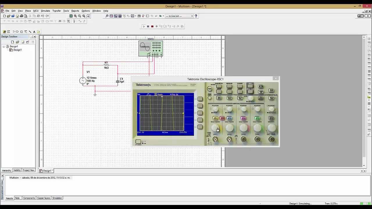 Circuito rc y rl en multisim 11 youtube - Generador de corriente ...