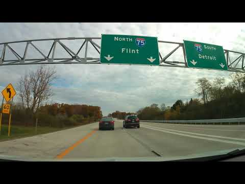 Driving from Bloomfield Hills, Michigan to Rochester Hills, Michigan
